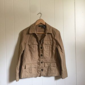 🙂 5/$20 Ana safari utility twill jacket